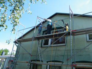 Haus streichen Seite